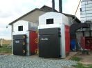 Шахтная зерносушилка с нагнетающими  вентиляторами  и двумя воздухонагревателями   MetalERG EKOPAL S 1000 и 750  на соломе_1
