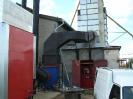 Шахтная зерносушилка с нагнетающими  вентиляторами  и двумя воздухонагревателями   MetalERG EKOPAL S 1000 и 750  на соломе_2