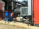 Шахтная зерносушилка с нагнетающими  вентиляторами  и двумя воздухонагревателями   MetalERG EKOPAL S 1000 и 750  на соломе_5