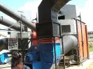 Шахтная зерносушилка с нагнетающими  вентиляторами  и двумя воздухонагревателями   MetalERG EKOPAL S 1000 и 750  на соломе_8