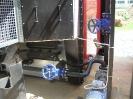 Шахтная зерносушилка с нагнетающими  вентиляторами  и двумя воздухонагревателями   MetalERG EKOPAL S 1000 и 750  на соломе